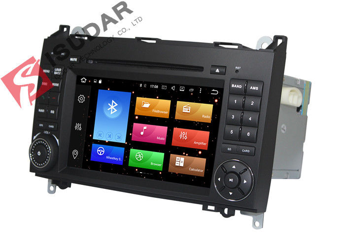 Built In Radio Tuner Isudar Car DVD Player For Mercedes Benz For B200 Heat Dissipation