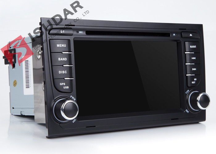 Split Screen Audi A4  2 Din Car DVD Player With Bluetooth Android 7.1.1 OBD Support