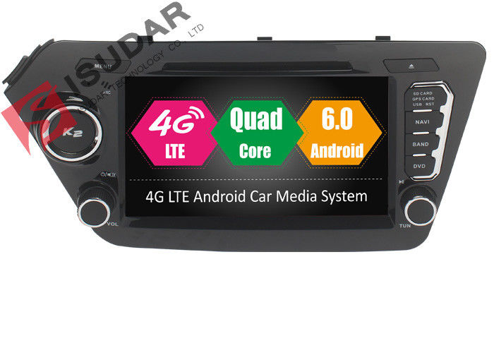 Cortex A53 Octa Core Kia Android Car DVD Player With Gps And Bluetooth For RIO /  K2