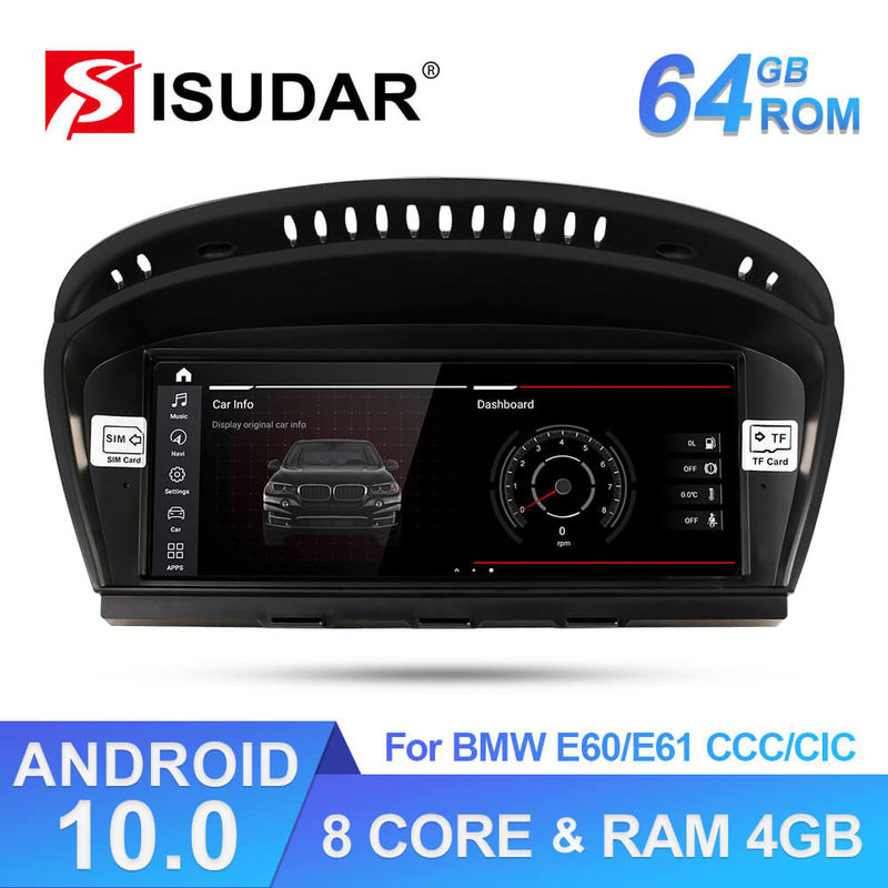 MP3 MP4 2.0GHz Andorid 10.0 Auto DVD Players For BMW 5 Series